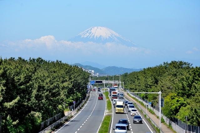 Route vue sur le mont Fuji